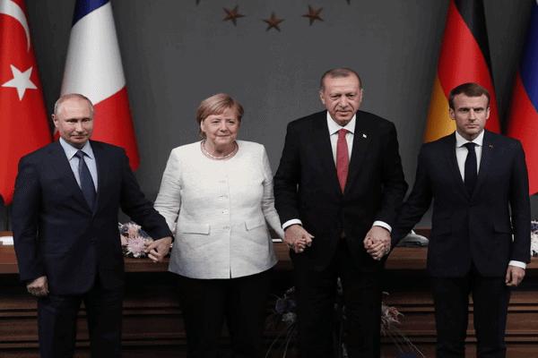 Macron, Merkel and Erdogan held phone talks on Syria