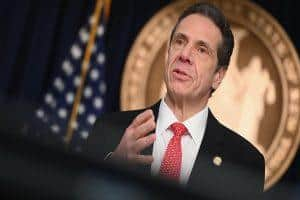 """We will ask the President to authorize four coronavirus emergency hospitals,"" says New York Gov. Cuomo"