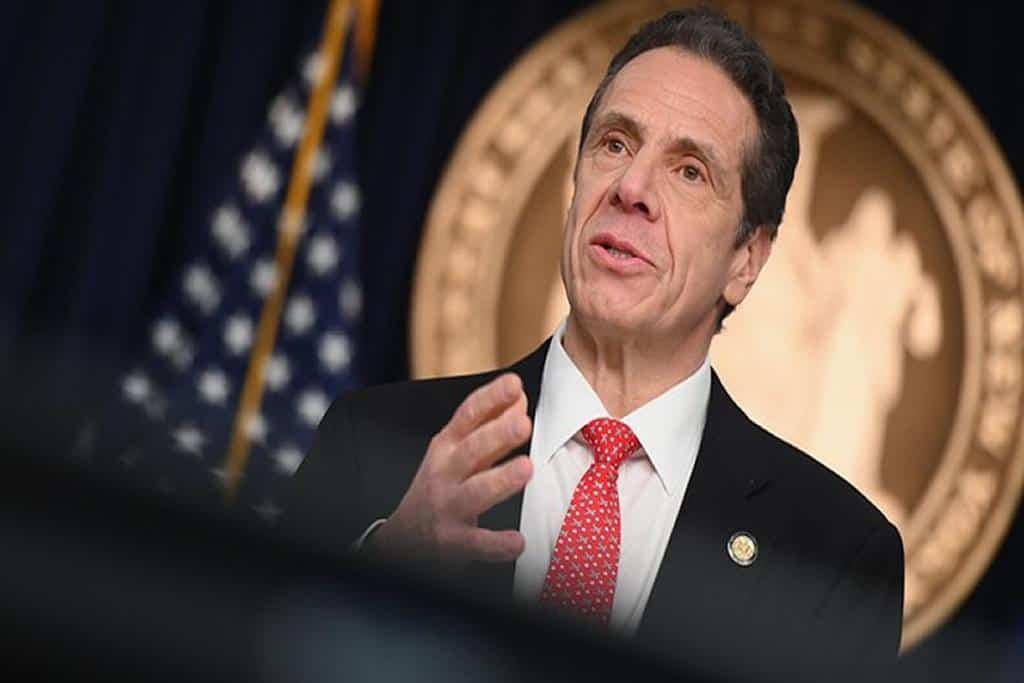 """""""We will ask the President to authorize four coronavirus emergency hospitals,"""" says New York Gov. Cuomo"""