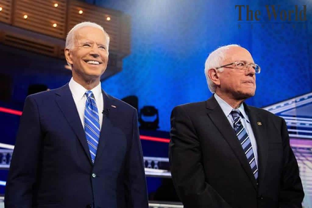 What shifted focus from Sanders to Biden?