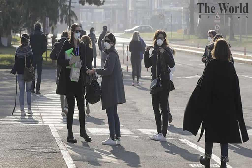Emission levels reduce as people stay indoors