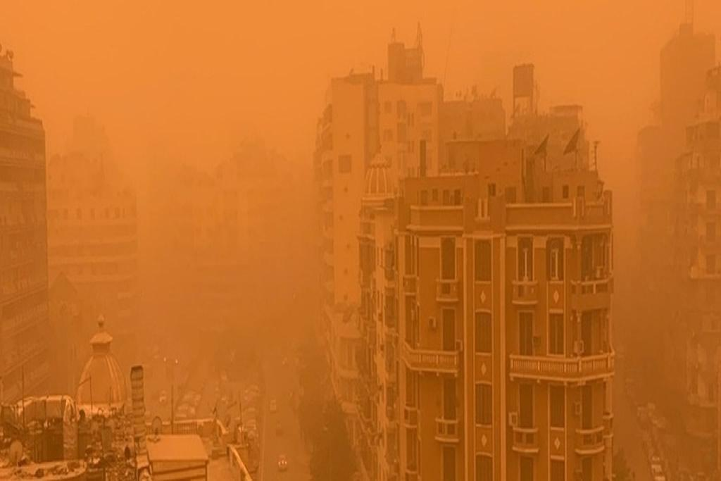 Egypt hit by a severe sandstorm amid coronavirus and aftermath of a recent rainstorm