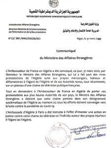 dz.01 - Algeria to sue FRANCE24 over defamatory statements