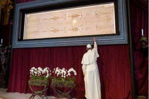 Christians celebrate Easter in isolation, the extraordinary display of the holy shroud reminds us of God's love that saves