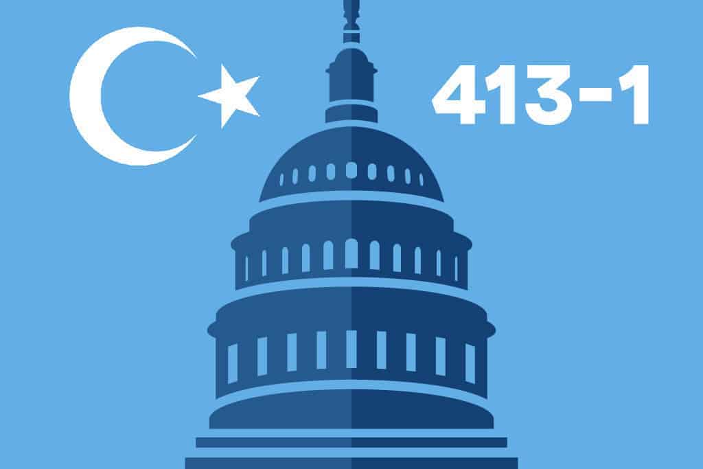 US Congress votes overwhelmingly against Chinese abuse in Xinjiang
