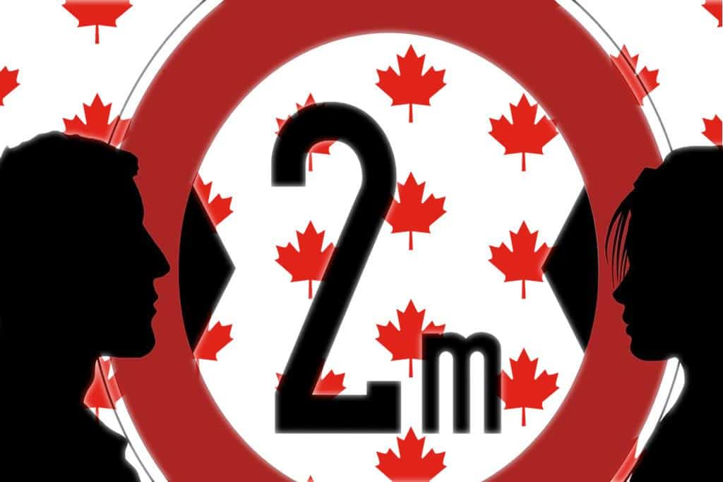 Canada sticks to two meter Guideline for physical distancing but not mask