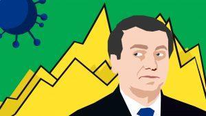 President Jair Bolsonaro announces COVID-19 statistics in Brazil