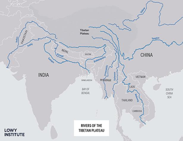 Rivers of Tibetian Plateau - China plans to arm-twist India over water sources