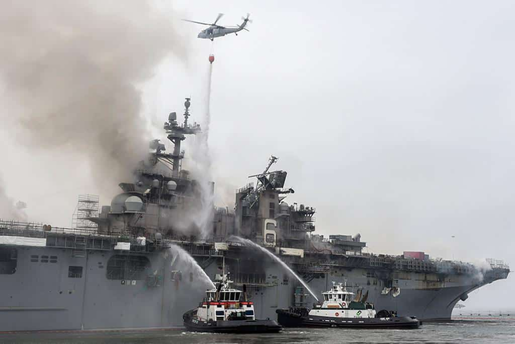 Blazed US Navy warship has reversed country's Pacific fleet by years