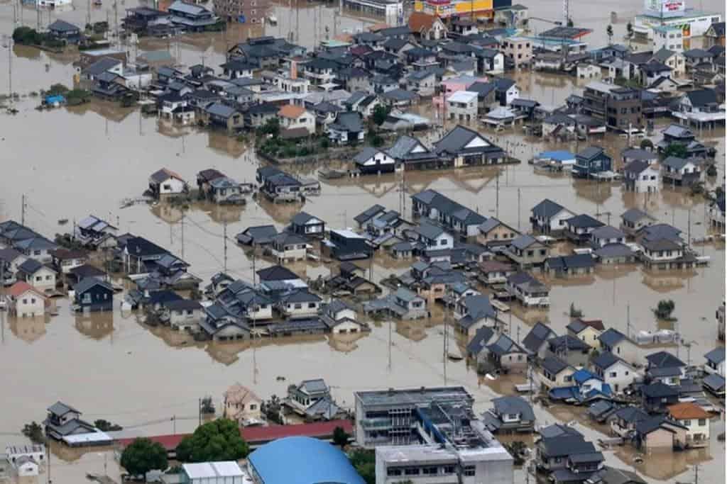 Rescue efforts are on as dozens feared dead in floods in Japan