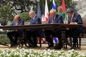 Abraham historic agreement signed at the White House, UAE and Israel for peace in the Middle East