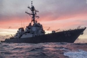 Russian vessel warns the USS John S McCain, International marine law