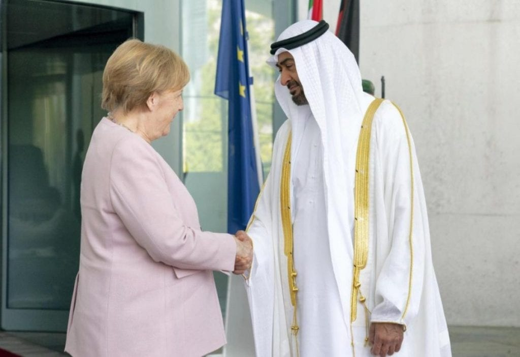 Abu Dhabi Crown Prince, German Chancellor Call for Global Efforts to Fight Terrorism