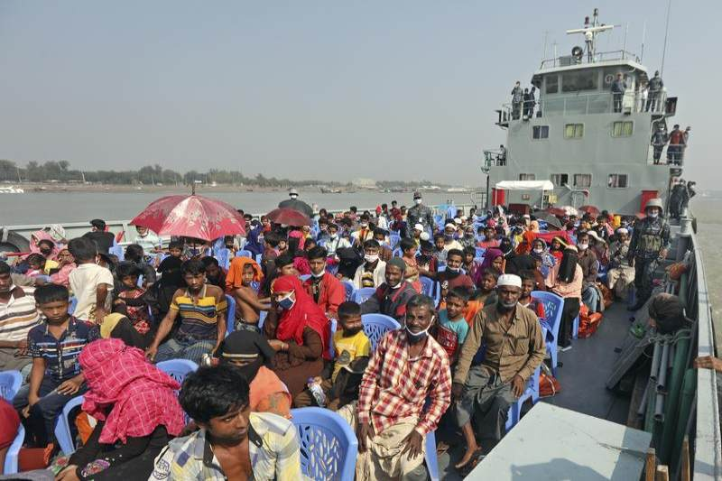 Bangladesh ships out Rohingya refugees to remote island without their consent