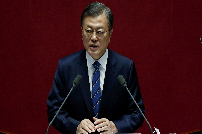 S Korea's Moon Jae-in grapples with falling approval ratings