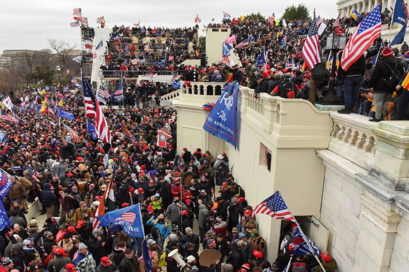 Anarchy in US: World watches in horror as Pro-Trump rioters breach Capitol building