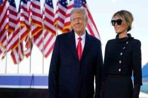 Trump in his final farewell