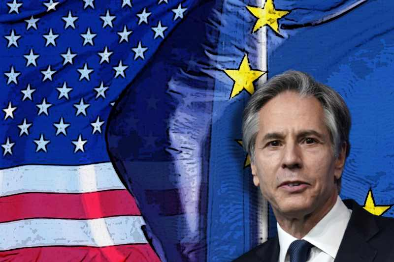 Blinken visits Brussels to rebuild ties with NATO allies and EU
