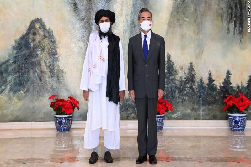 Chinese officials and Taliban meet as US exits Afghanistan