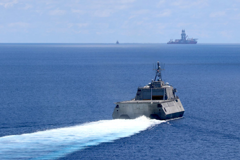 China strongly condemns US Navy warship sailing near the Taiwan Strait