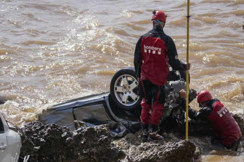 Bad weather in Spain: floods and torrential rains devastate the eastern coasts