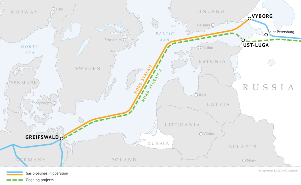Nord Stream 2 Pipeline Project Map