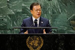 South Korean President Moon Jae-in calls for the end-of-the-war declaration