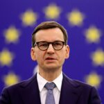 polish pm and eu chief executive in debate on poland's challenge to the supremacy of eu laws, in strasbourg